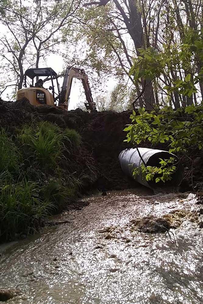 Lakeshore drainage contractor